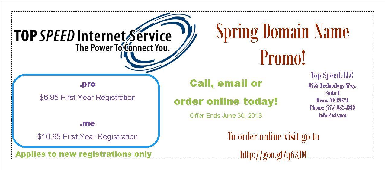Domain Name Promo